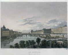 The Pont or Passerelle des Arts, Paris, 1832 by Bernhard Schmidt