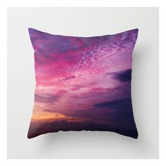 Red Sky Sunrise Throw Pillow ($20) ❤ liked on Polyvore featuring home, home decor, throw pillows, red home decor, red home accessories, red throw pillows, red accent pillows and red toss pillows