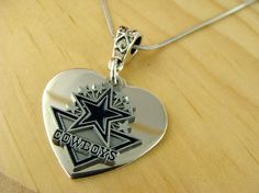 DALLAS COWBOYS NFL Official Licensed Charm Silver by Elorra123, $20.00