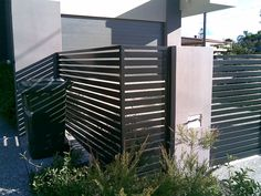 Decoration, Grey And Black Color Picture Decoration Horizontal Fence Panels Picture Green Leaf Plants Grey And Black Color Decoration Concepts Large Designs Home Big: The Best Concepts Of Horizontal Fence Panels That Design Well With Black And Brown Colors