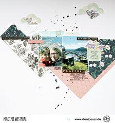 "zauberhaftes Scrapbookinglayout mit dem ""April Mini Kit 2018"" | von Nadine Westphal für www.danipeuss.de | #danipeuss #scrapbooking #scrapbookinglayout"