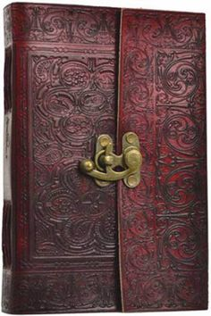 Heavy Medieval Styled Embossing Leather Bound Blank Book Diary Journal Celtic