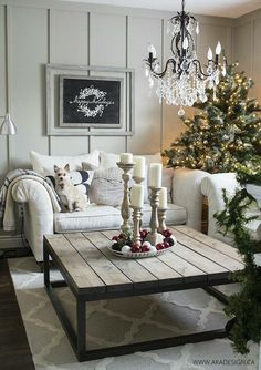 Wonderful French Country Living Room Decoration Ideas - Bardolph News Traditional Decor, French Country Living Room, Country Decor, Decor, French Country Decorating Living Room, Christmas Home, Farm House Living Room, Christmas Living Rooms, Living Room Designs
