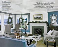 ended up with this color: Benjamin Moore Sea Reflections