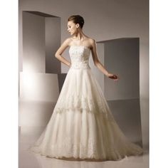Off White Vintage Lace Wedding Gowns 2013 with Train
