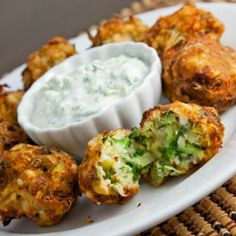 Feta Zuchinni Fritters - compared to the zucc w/ carrots, these were my fav of the two but the fam split the vote, just not feta fans. (I haven't made the dip, the fritters are tops w/o it)