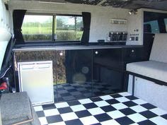 Cupboards and build thread Anyone made their own cupboards using doors from a diy store b and q for example Vw Transporter Conversions, Vw Conversions, Camper Conversion, Vw T5 Campervan, T4 Camper, Bus Interior, Campervan Interior, Ikea Cupboards, Vw T5 Forum