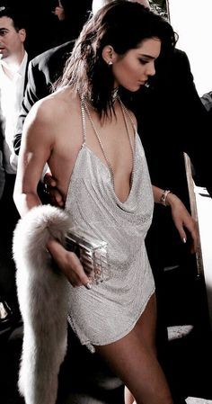 Kendall Jenner's Braless Boobtastic Birthday - Egotastic - Sexy Celebrity Gossip and Entertainment News Club Dresses, Sexy Dresses, Flat Chested Fashion, Silver Sparkly Dress, Rich Girls, Sugar Baby, Kendall And Kylie Jenner, Jenner Style, Look Fashion