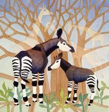 Art work with a meaning - Support the OCP and save a species! art work, idea, okapi art