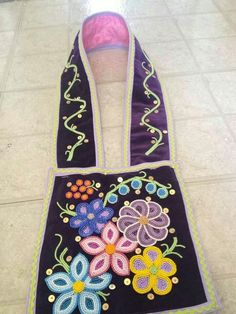 Bandolier bag. Made by Joanne Soldier for her Grand Niece.