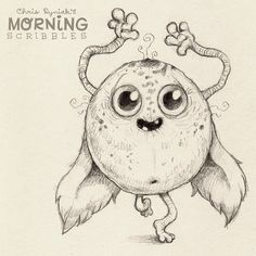 Noodle-arm Wednesday !!!! #morningscribbles | 출처: CHRIS RYNIAK