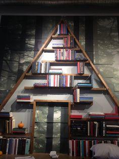 Cute idea for a DIY bookshelf.