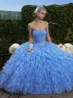 Iridescent Tulle Sky Blue Moonlight Collection