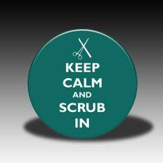 scrub in