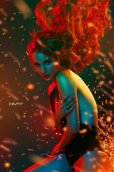 Sweet dreams by Gabriel Sosa on Fstoppers Exposure Photography, Light Photography, Creative Photography, Portrait Photography, Colour Gel Photography, New Foto, Fantasy Art Women, Fashion Photography Inspiration, Fire Starters