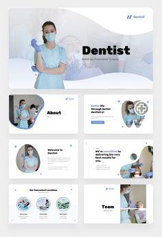 Dentist - Dental Spa Power Point Presentation by kreevstudio | GraphicRiver Presentation Pictures, Presentation Templates, Maquette Site Web, Dentist Logo, Corporate Presentation, Free Web Fonts, Photoshop, Concept Board, Personal Portfolio