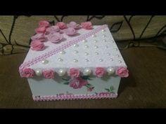 Caixa Personalizada - Pérolas e Flores - YouTube
