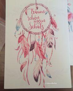 Details zu Bild Traumfänger Spruch Boho-Chic Kunstdruck A4 Hippie ...