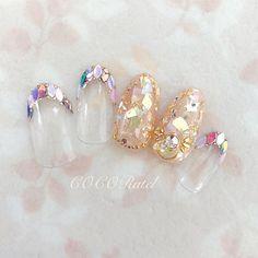 #フットネイル #シンプルネイル #ナチュラルネイル #ラメ #キラキラフットネイル #オフィスネイル #大人ネイル #春ネイル #春ネイル2018 #ベージュネイル #オーロラホロ...|ネイルデザインを探すならネイル数No.1のネイルブック Japanese Nail Design, Japanese Nails, Seashell Nails, Bridal Nails, Wedding Nails, Nails To Go, Love Nails, Pretty Nail Designs, Nail Art Designs
