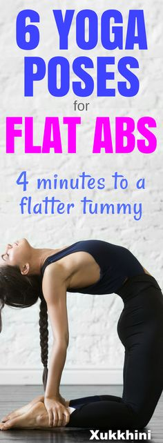 Tone and flatten your tummy in this 4 minute yoga workout of the best yoga poses for flat abs