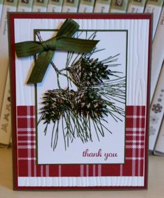 Windy's Wonderful Creations: A Christmas Thank You Christmas Cards 2017, Stamped Christmas Cards, Christmas Thank You, Christmas Card Crafts, Homemade Christmas Cards, Xmas Cards, Homemade Cards, Handmade Christmas, Holiday Cards
