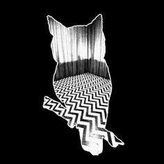 Twin Peaks Owl Tshirt  WHITE ink  S  M  L  Xl  2Xl  by wickedmoxie, $14.95