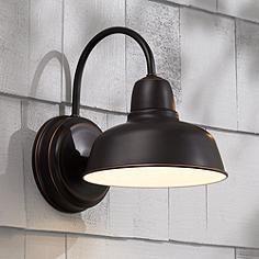 "Urban Barn 11 1/4"" High Bronze Indoor-Outdoor Wall Light"