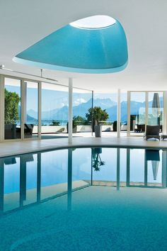 A Europe spa break is a great way to physically and emotionally reboot – often through a customised combination of hi-tech health tests by expert doctors, feel-good massages and a refined diet, all in a stunning back-to-nature setting. These are the best spas in Europe. Outdoor Swimming Pool, Swimming Pools, Indoor Pools, Underwater Music, Babington House, Piscina Interior, Spa Breaks, House Furniture Design, Best Spa