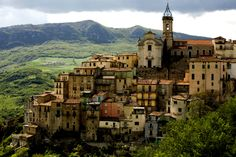 Cities in Abruzzo Italy | The bell tower topping Colledimezzo, an old village in Abruzzo ...