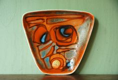 Mid Century Modern Poole Delphis Freeform Abstract by JunkHouse, $112.00