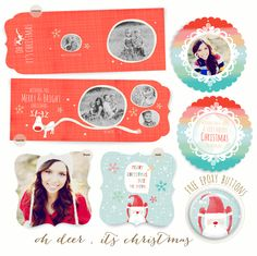2012 Christmas Cards + FREE epoxy buttons