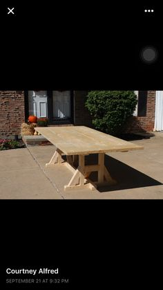 Porch table Before