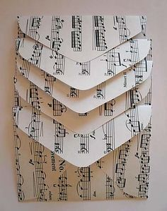 envelope tutorial.  Love the idea of using old sheet music.