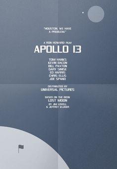 Apollo 13 (1995) ~ Minimal Movie Poster by Karl Bembridge #amusementphile