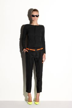 Use your Fall wardrobe by adding a colorful belt and/or bright shoes to make a great Resort look!!