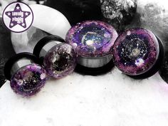 "Supernova Remnant Pink Purple Nebula / Galaxy Plug /Gauge ONE Plug Only 3/4"", 7/8"", 1"" / 19mm, 20mm, 22mm, 24mm, 25mm"