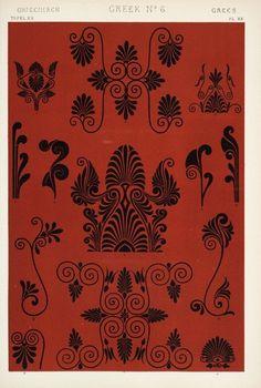 """'Greek' from """"The Grammar of Ornament"""" by Owen Jones 1910."""