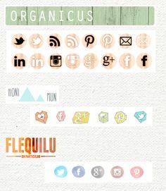 Pack botones redes sociales gratis - Blogueras Motivadas