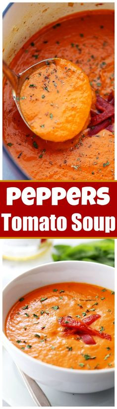Piquillo Peppers Tomato Soup Recipe - Flavorful, healthy, hearty, and easy to make soup with piquillo peppers and tomatoes. Freezes well, too!