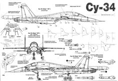 Russian Fighter Bomber Su-34 Cutaway Details.