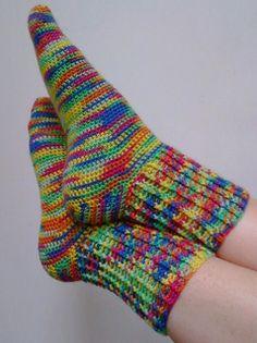 Toe Up Crocheted Sock With Gusset - Basic Pattern pattern by Nicole Cormier Knitting For BeginnersKnitting HatCrochet PatronesCrochet Ideas Easy Crochet Socks, Crochet Sock Pattern Free, Crochet Slipper Pattern, Crochet Shoes, Crochet Slippers, Crochet Clothes, Crochet Baby, Knit Crochet, Crochet Slipper Boots