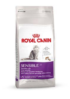SENSIBLE 33 - Für #wählerische #Katzen mit sensibler #Verdauung von 1 bis 10 Jahren. Bestimmte Katzen verfügen über einen empfindlichen Verdauungstrakt, was eine weiche Kotkonsistenz zur Folge haben kann. SENSIBLE 33 ist dank hochverdaulicher Proteine speziell auf diese Bedürfnisse zugeschnitten. http://www.royal-canin.de/katze/produkte/im-fachhandel/nahrung-nach-mass/1-bis-7-jahre/sensible-33/eigenschaften/