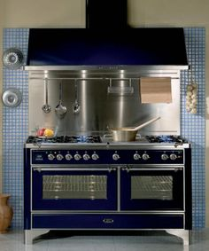 Majestic UM-150 60-inch range with optional hood and backsplash Not wood, but my dream stove!