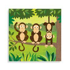 Monkeys I Canvas Wall Art - Bed Bath & Beyond