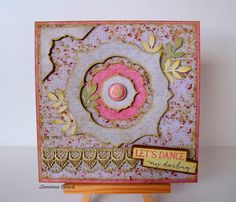 All Occasion Card-Let's Dance. By: SamimaG Created using Prima Marketing Debutante Collection products; Prima Marketing, Lets Dance, Embellishments, Let It Be, Create, Paper, Handmade Cards, Wood, Diy