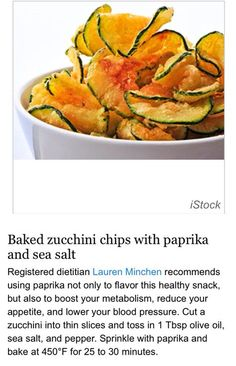 Baked Zucchini Chips - keto/carb free, use spray oil s/w friendly 😀 Bake Zucchini, Zucchini Chips, Paleo Recipes, Low Carb Recipes, Cooking Recipes, Snack Recipes, Veggie Dishes, Vegetable Recipes, Healthy Snacks