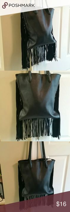 Selling this Med Black Faux Fur Bag!!! Very Cute&Chic... on Poshmark! My username is: loddydoddy_88. #shopmycloset #poshmark #fashion #shopping #style #forsale #vR #Handbags