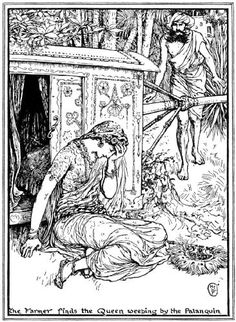 Jackal or Tiger? - The Olive Fairy Book by Andrew Lang, 1907 - in this story the sultana is banished by her husband, who (like a misogynist) can't accept the fact that she could be right and he wrong over whether a roar in the night was a jackal or a tiger. She wins in the end, and he is forced to acknowledge her cleverness.