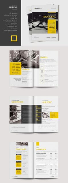 Looking for a business proposal or project proposal for your prospective client? This 16 pages Professional Business Proposal Template can be the best choice Free Business Proposal Template, Project Proposal Template, Proposal Templates, Brochure Layout, Brochure Design, Corporate Brochure, Booklet Design Layout, Editorial Design, Magazine Layout Design