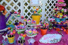 Decoración de mesas de cumpleaños para niñas   La Cajita Azul de Rocío